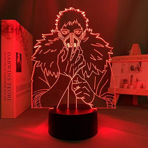 Lámparas decorativas para exterior Anime My Hero Academia reacondicionamiento luz de noche LED, decoración de la habitación regalo de cumpleaños reacondicionamiento lámpara 3d My Hero Academia DUYAO00