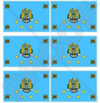 Roumanie Roumain Azur Drapeau 40 mm (40,6 cm) Téléphone Mobile Mini en vinyle autocollants, Stickers x6