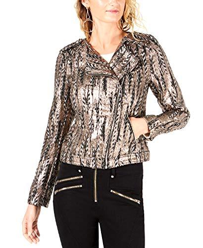 Guess Damen Long Sleeve Teeya Gilded Jacket Jacke, Jet Black/Multi, Mittel