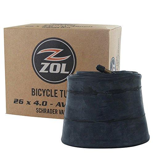 ZOL MTB Fat Tire Bike Bicycle Inner Tube 26' x 4.0 Schrader Valve 48mm(2 PCS)