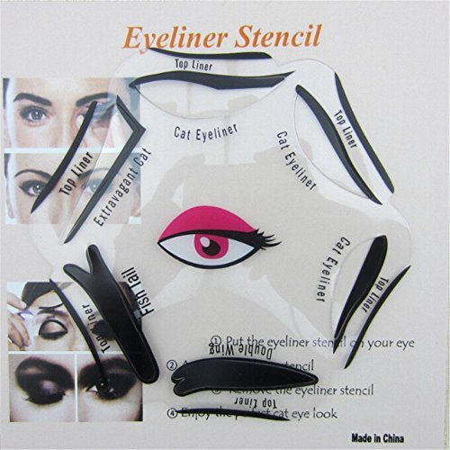 SAMGU Maquillage Beauty Cat Eyeliner Smokey Eye Stencil Models Template Shaper Tool