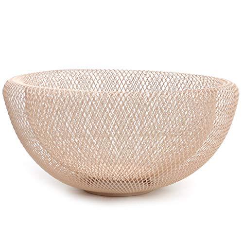 Schale \'Maze\' Obstschale Dekoschale Metall Drahtschale - Rosa Nude - im modernen Design - skandinavisch Wohnen