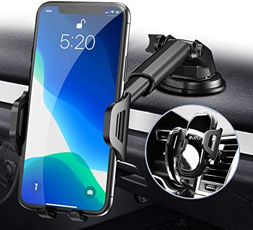 Phone Car Holder Mount RAXFLY Windshield Air Vent Dashboard Cell Car Phone Holder for Car 360 product image