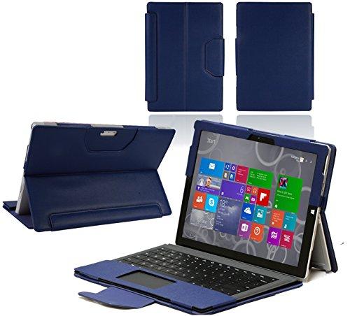Navitech - Microsoft Surface Pro 3 Blaues Bycast Leder Case/Cover passend mit oder ohne Keyboard