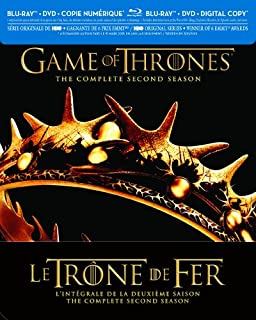 Game of Thrones / Le Trône de Fer: The Complete Second Season (Bilingual) [Blu-ray + DVD + Digital Copy] (B00ABYXB1A) | Amazon price tracker / tracking, Amazon price history charts, Amazon price watches, Amazon price drop alerts