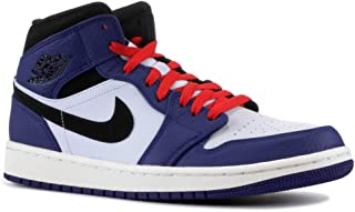 AIR JORDAN 1 Mid SE Men's Basketball Shoe (10 M US, Deep Royal Blue/Half Blue/University Red/Black)
