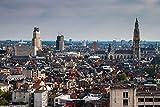 lunaprint Antwerpen View from Sky Belgium Europe Home Decor