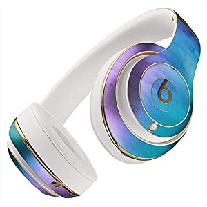 Mixed Pink Blue 3 Absorbed Watercolor Texture DesignSkinz Full-Body Skin Kit for The Beats by Dre Studio Remastered Wireless Headphones Protective Skin Wrap (Beats NOT Included)