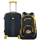 Denco NBA Los Angeles Lakers 2-Piece Luggage Set , BLACK , 21