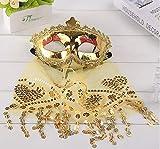 Fiesta de Maquillaje Fiesta Navidad Halloween Danza del Vientre Velo máscara de Dama Código Promedio Dorado