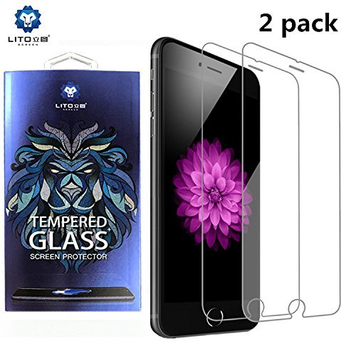 iPhone 7, iPhone 8, Tempered Glass Screen Protector for iPhone 7, and iPhone 8 (2 PACK)