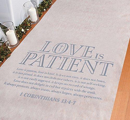 Love is Patient Corinthians Wedding Aisle Runner- 100 feet