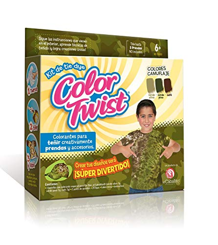 COLOR TWIST el Caballito Kit Tie Dye Colores Camuflaje