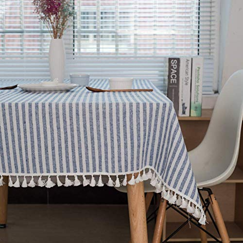 JLYZB Grid kwast tafelkleed, Nordic tafellinnen katoen linnen stof stofdicht keuken eettafel decoratie tafelafdekking lila 90x90 cm (35x35 inch)