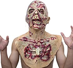 molezu Scary Full Head Mask, Monster Mask, Costume Party Rubber Latex Mask for Halloween
