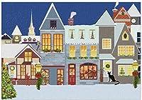 新しいJSCTWCLCUXWEOT大人のためのカスタムジグソーパズル500個パーソナライズされた面白いノベルティクリスマススノーハウスパズル子供のためのDIYギフト家にいる結婚式の装飾