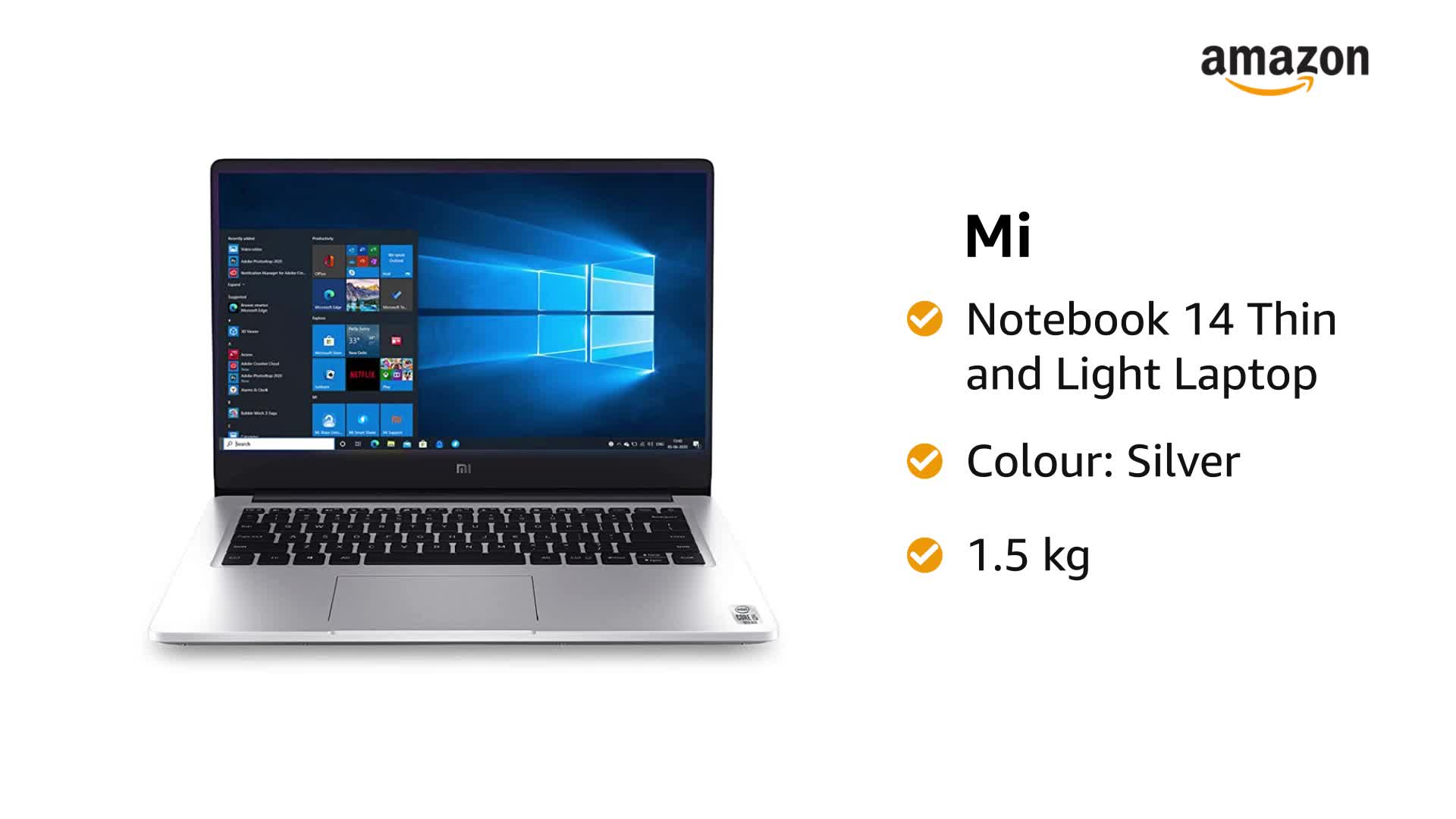 Mi Notebook 14 Intel Core i5-10210U 10th Gen Thin and Light Laptop(8GB/512GB SSD/Windows 10/Intel UHD Graphics/Silver/1… 2 51fB7RnO4HL