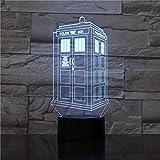 Linterna Mágica 3D, Luz De Noche Led, Caja De Policía Británica, Decoración De Dormitorio Para Niños, Cabina De Teléfono, Lámpara De Mesa, Regalo Para Niños