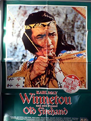 Winnetou und sein Freund Old Firehand - Videoposter A1 84x60cm gefaltet (g)