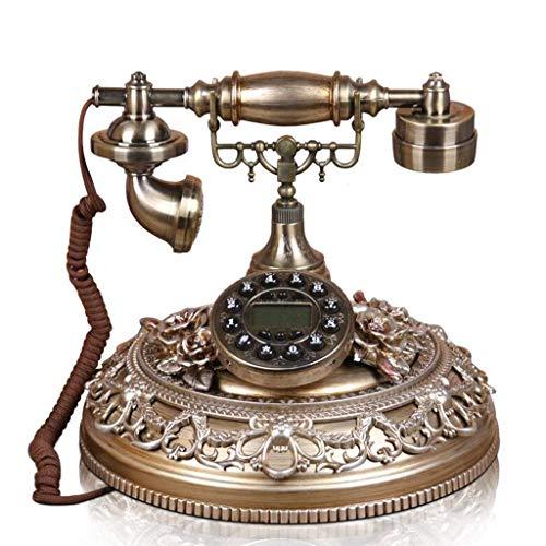 ADSE Juego de teléfono de Mesa de marcación con botón de Estilo Retro Decoración para el hogar y la Oficina