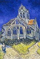 ヴィンセントファンゴッホオーヴェールの教会 ポスター A3サイズ [インテリア 壁紙用] 絵画 アート 壁紙ポスター