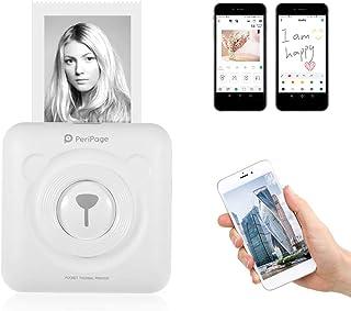 Aibecy-PeriPage Mini Pocket Wireless BT Impresora térmica Imagen de foto Etiqueta Memo Recibo Impresora de papel con cable...