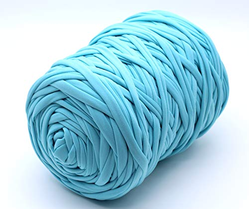 Trapillo Boguar Colores lisos 100-110 metros aprox. de tela cortada nueva (Turquesa)