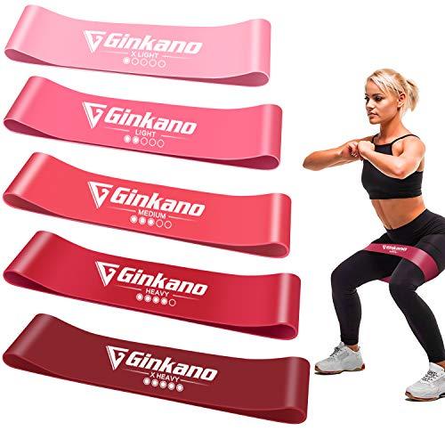 Haquno Widerstandsbänder [5er Set] Fitnessband Gymnastikband 100{e18d0f9369fd9c17852d6677a16744c2a04030911c6a69f061a6702ff08637a6} Naturlatex Theraband mit Übungsanleitung auf Deutsch & Tragebeutel für Muskelaufbau, Yoga, Crossfit, Gymnastik usw.