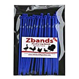 Chicken Hill 100 ZBand Numbered Poultry Leg Bands ~ Fits Sizes 6 to 14