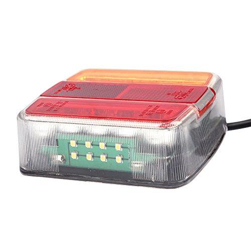 Universal-Anhänger-Rücklicht, Bremslicht, Kontrollleuchte, 12V LED, für LKW, Wohnwagen, Traktor usw.