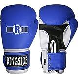 Ringside Pro Style Boxing Training Gloves Kickboxing Muay Thai Gel Sparring Punching Bag Mitts, Small/Medium, Blue