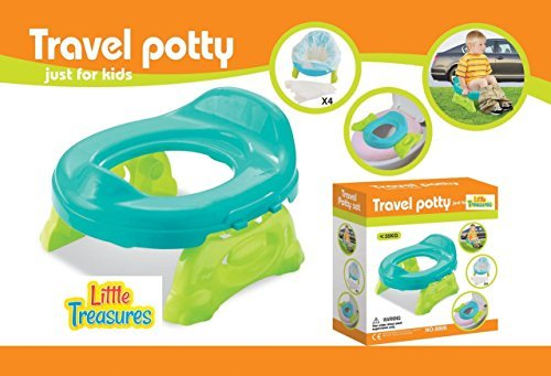 Little Treasures Travel Potty for Ages 9 Months and Up with Seat Liners
