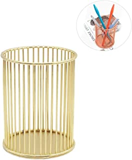 Pencil Pot Holder Metal Volwco 2 Pcs Nordic Style Rose Gold Iron Wire Pen Holder Makeup Brushes Storage Basket Stationery ...