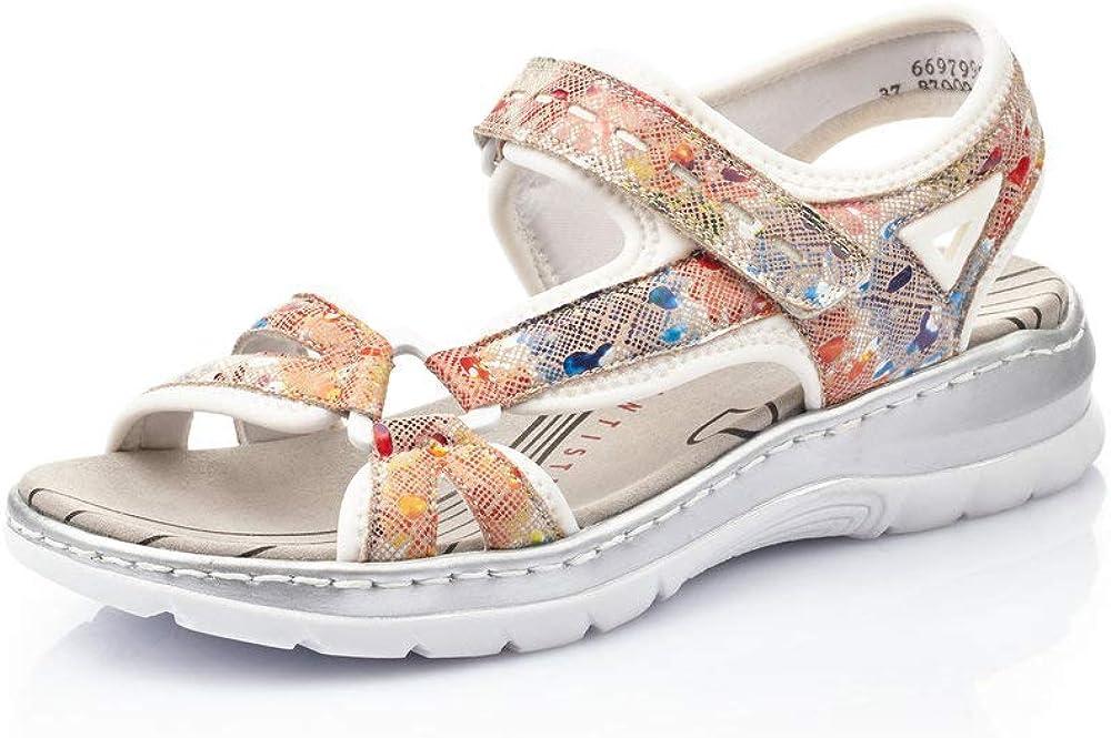 Rieker ディスカウント Women's Textile 倉庫 Sandals US