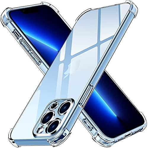 ivoler Funda Compatible con iPhone 13 Pro MAX con Protección de La Cámara, Carcasa Protectora Antigolpes Transparente con Cojín Esquina Parachoques, Suave TPU Silicona Caso Delgada Anti-Choques Case