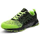 SOLLOMENSI Chaussures de Sport Running Basket Homme Course Trail Entraînement Fitness Tennis Respirantes 45 EU A Vert