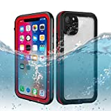 DOOGE iPhone 11 Pro Waterproof Case, IP68 Certified Shockproof/Dirtproof/Snowproof Full-Sealed Full-Body Heavy Duty Protective Case Built-in Screen Protector for iPhone 11 Pro/XI (5.8inch)
