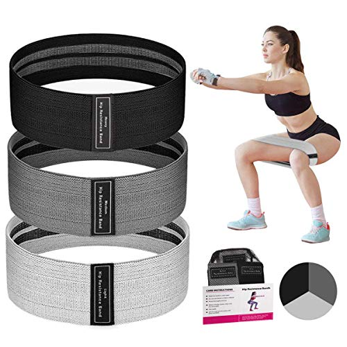Keystand Resistance Bands Set, Exercise Bands for Women Butt and Legs, Elastic Workout Bands, Stretch Fabric Cloth Loop Bands Wide Anti Slip Fitness Booty Band for Weight Training