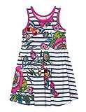 Desigual Girl Knit Dress Straps (Vest_Libreville) Vestido, Blanco (White 1000), 140 (Talla del Fabricante: 9/10) para Niñas
