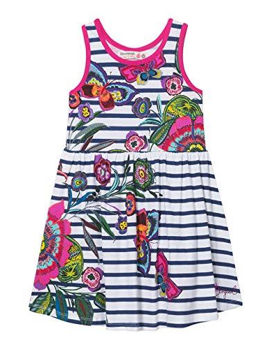 Desigual Mädchen Girl Knit Dress Straps (Vest_Libreville) Kleid, Weiß (White 1000), 152 (Herstellergröße: 11/12)