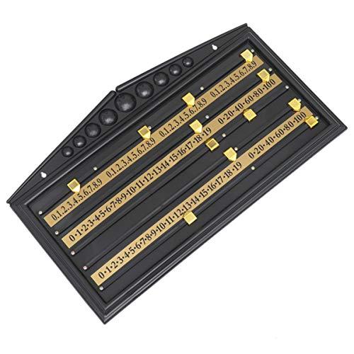 VOSAREA Tabellone Segnapunti da Biliardo Registratore Punteggio da Biliardo Tabellone Segnapunti Orologio Numero di Calcolo Accessori per Il Gioco del Club