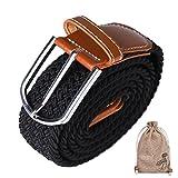 QH-Shop Cinturón Trenzado, Elástico Trenzado Tamaño Ajustable con Hebilla de Aguja de Metal Embalado en...