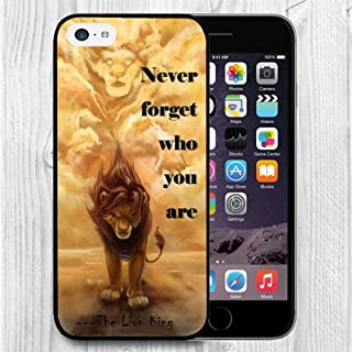 iPhone 5C Case Apple 5C Black Cover TPU Rubber Gel - Never forget who you are - The Lion King