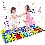 BelleStyle Alfombra de Piano, 130*48 cm Grande Alfombra Musical para Niños, Tapete Musical Toque Jugar Teclado de Piano Manta Musical Educativo Juguete para Bebé Niños Pequeños - Azul