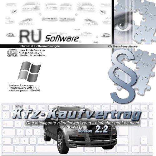 Kfz-Kaufvertrag, Verträge und Formulare Software Auto Handel