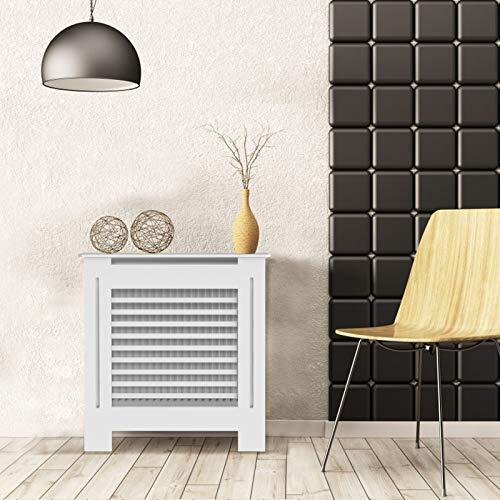 Ukmaster Modern Home Furniture Radiator Cover Cabinet Wood MDF Traditional Design Horizontal Style Slats Hallway Cabinet, Medium