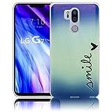 thematys lg g7 thinq sorridere custodia del telefono cellulare del silicone - prova della luce, di urto e della polvere - custodia dello smartphone