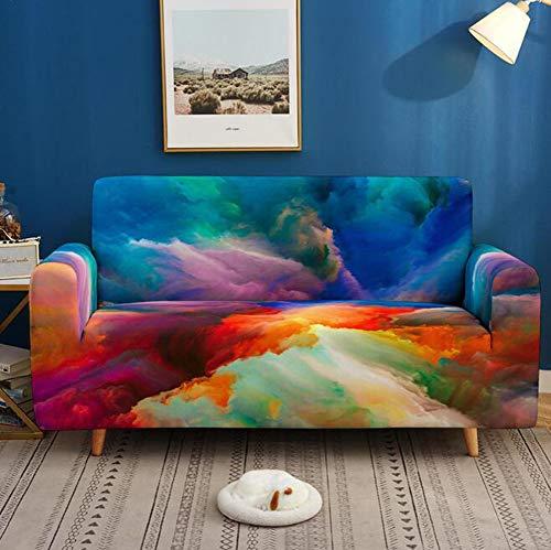 3D Couchbezug Stretch Arm Chair Große Sofa Schonbezug Ledermöbelschutz von Pet für Sofas für Wohnzimmer Couch Cover L Form 1/2/3/4 Sitzer,D,3seater 195 * 230 cm