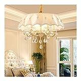 Exquisita Lámpara Lámpara, Cristal K9 araña de Pantalla de la Tela, Moderno y Minimalista Restaurante Europea/Dormitorio/Sala de Estar/lámpara de Techo lámpara de araña [energética A +]