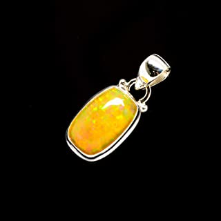 Ana Silver Co Natural Ethiopian Opal 925 Sterling Silver Pendant 1